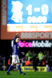 Birmingham City's Craig Gardner celebrates at the final whistle