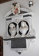 Sir Edmund and Lady Mary Barker monument, church of Saint Peter, Sibton, Suffolk, England