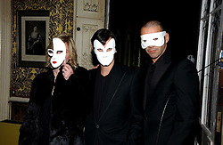 Charlotte and Carlo Brandell and Roland Mouret at the 2006 Moet & Chandon Fashion Tribute in honour of photographer Nick Knight, held at Strawberry Hill House, Twickenham, Middlesex on 24th October 2006.<br />