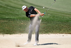 March 23, 2019 - Palm Harbor, FL, U.S. - PALM HARBOR, FL - MARCH 23: Scott Stallings blasts out of the green side bunker during the third round of the Valspar Championship on March 23, 2019, at Westin Innisbrook-Copperhead Course in Palm Harbor, FL. (Photo by Cliff Welch/Icon Sportswire) (Credit Image: © Cliff Welch/Icon SMI via ZUMA Press)