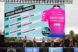 Valcar - Travel & Service on stage at the 2020 La Course By Le Tour with FDJ, a 96 km road race in Nice, France on August 29, 2020. Photo by Sean Robinson/velofocus.com