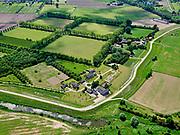 Nederland, Gelderland, Culemborg; 27-05-2020; Beusichemsedijk ten oosten van Culemborg ter hoogte van (voormalig) fruitkwekerij Landgoed Anckerwaerdt (nu conferentie en vergader lokatie).<br /> Na het hoogwater van 1995 is de dijk versterkt en verbeterd.<br /> Beusichemsedijk east of Culemborg and near (former) fruit nursery Landgoed Anckerwaerdt (now conference and meeting location).<br /> After the flood of 1995, the dike was strengthened and improved.<br /> <br /> luchtfoto (toeslag op standaard tarieven);<br /> aerial photo (additional fee required)<br /> copyright © 2020 foto/photo Siebe Swart