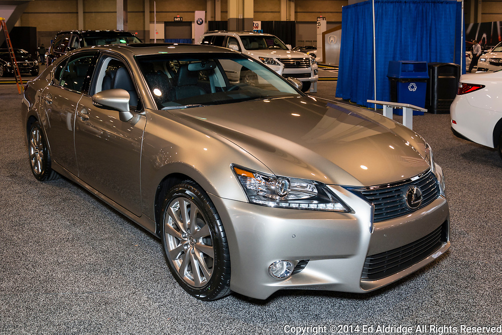CHARLOTTE, NORTH CAROLINA - NOVEMBER 20, 2014: Lexus GS 350 on display during the 2014 Charlotte International Auto Show at the Charlotte Convention Center.