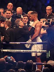 Anthony Joshua after beating Wladimir Klitschko during their IBF, WBA and IBO Heavyweight World Title bout at Wembley Stadium, London.