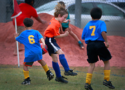 23 March 2013. New Orleans, Louisiana,  USA. .Carrolton Boosters Soccer. Under 8's. Quarter finals. Sharks win through over the Requins. .Photo; Charlie Varley.
