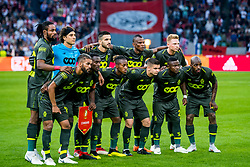 14-08-2018 NED: Champions League AFC Ajax - Standard de Liege, Amsterdam<br /> Third Qualifying Round,  3-0 victory Ajax during the UEFA Champions League match between Ajax v Standard Luik at the Johan Cruijff Arena / Team Standard Liege
