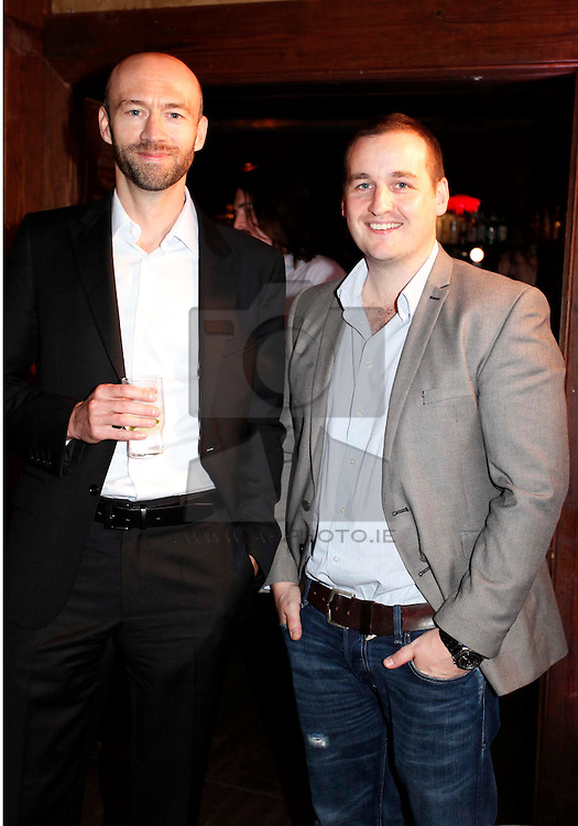 Brendan Coyle and James Moore pictured at the launch of Arthur's Day 2011. Pic Andres Poveda CPR