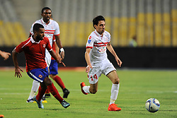 August 8, 2016 - Alexandria, Cairo, Egypt - Al-Zamalek players and Al Ahli players compete during final match of Egypt Cup  in Borg El-Arab Stadium near Alexandria, Egypt, Aug 8,2016  (Credit Image: © Stringer/APA Images via ZUMA Wire)