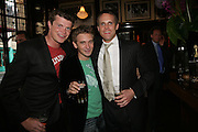 Jack Kidd, Dan Stein and Jamie Morrison, PJ's Annual Polo Party . Annual Pre-Polo party that celebrates the start of the 2007 Polo season.  PJ's Bar & Grill, 52 Fulham Road, London, SW3. 14 May 2007. <br /> -DO NOT ARCHIVE-© Copyright Photograph by Dafydd Jones. 248 Clapham Rd. London SW9 0PZ. Tel 0207 820 0771. www.dafjones.com.