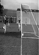 Division 1A Playoff At Iveagh Grounds..St James Gate vs Park Villa..1986..28.05.1986..05.28.1986..28th May 1986..Image of Oran Maher,St James's Gate (hand raised) as he turns away after scoring against Parkvilla in the division 1A playoff.