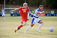 01 DEC 2012:  Lynn University vs. Saginaw Valley State University during the 2012 NCAA Men's Division II Soccer Championship held at Blanchard Woods Park hosted by the Peach Belt Conference in Evans, GA. Lynn defeated Saginaw Valley State 3-2 to win the national title. Brett Wilhelm/ NCAA Photos