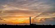 sunset at Calshot