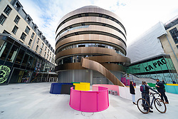 Edinburgh, Scotland, UK. 24 June 2021. First images of the new St James Quarter which opened this morning in Edinburgh. The large retail and residential complex replaced the St James Centre which occupied the site for many years. Pic; Exterior of the new W Edinburgh Hotel. Iain Masterton/Alamy Live News