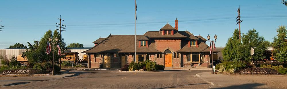 Historic train Depot  in downtown Weiser, Idaho.