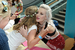 © Licensed to London News Pictures. 30/08/2012.Little Mix book signing at Bluewater shopping complex in Kent.. X-Factor star  Perrie Edwards.Photo credit : Grant Falvey/LNP