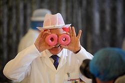 Scottish Bakery Awards_Dunfermline Blcc_17-04-2019<br /> <br /> Doughnut testing<br /> <br /> (c) David Wardle   Edinburgh Elite media