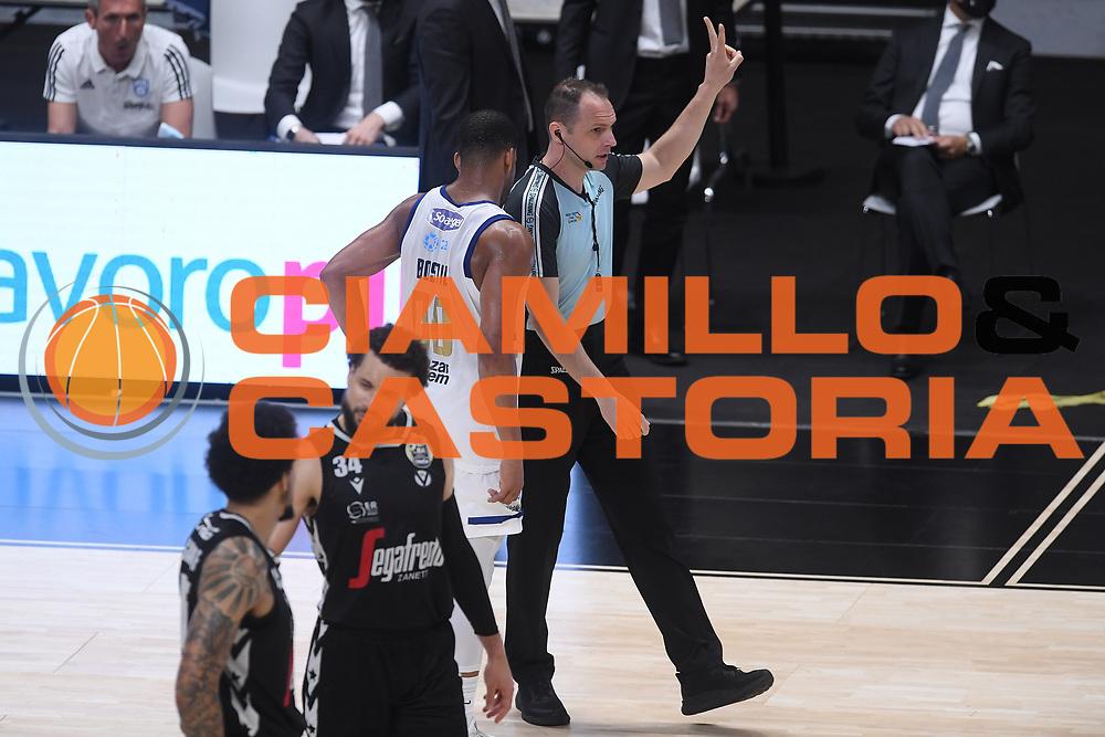 manuel mazzoni , arbitro<br /> Segafredo Virtus Bologna - Happy Casa Brindisi<br /> Semifinali - Gara 3<br /> Legabasket Serie A UnipolSAI 2020/2021<br /> Bologna, 02/06/2021<br /> Foto GiulioCiamillo / Ciamillo