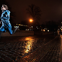 Night shot for Nike Running with the Nike Free