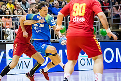 Dolenec Jure of Slovenia during friendly handball match between national teams Slovenia and Montenegro on 4th Januar, 2020, Trbovlje, Slovenia. Photo By Grega Valancic / Sportida
