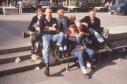 Group of youths in town centre,