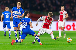 13-03-2019 NED: Ajax - PEC Zwolle, Amsterdam<br /> Ajax has booked an oppressive victory over PEC Zwolle without entertaining the public 2-1 / Lasse Schone #20 of Ajax, Pelle Clement #22 of PEC Zwolle