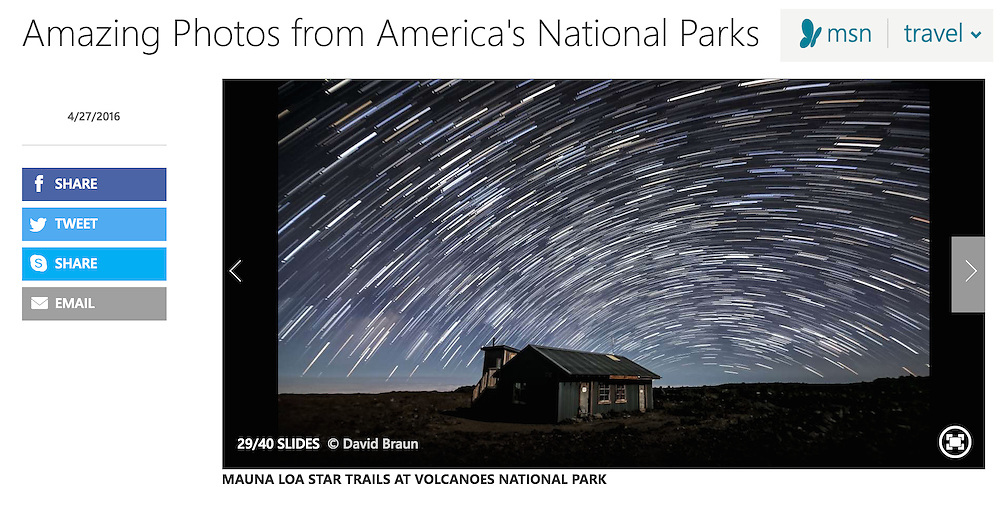"Image: ""Mauna Loa Star Trails"""
