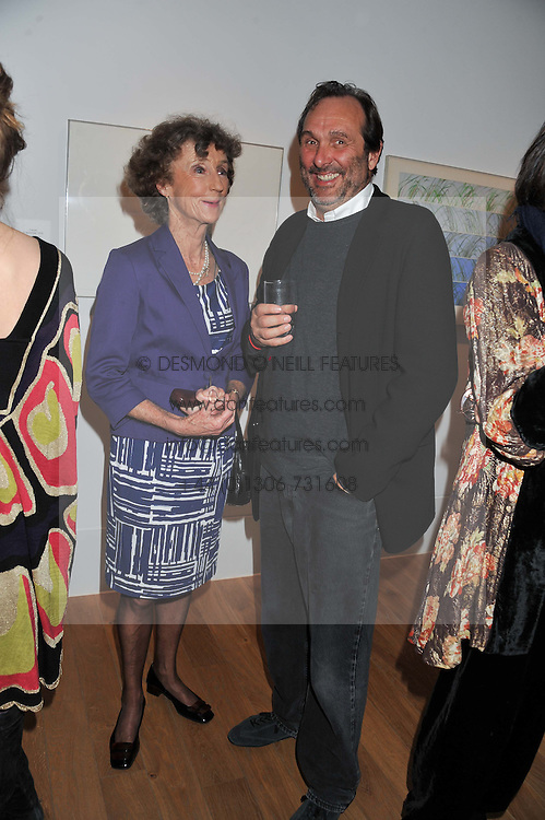 Left to right, LINDY, MARCHIONESS OF DUFFERIN & AVA and the HON.DAVID MACMILLAN at a private view of work by the late Rory McEwen - The Colours of Reality, held at the Shirley Sherwood Gallery, Kew Gardens, London on 20th May 2013.