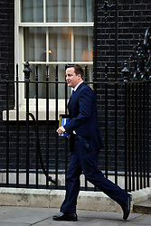 © Licensed to London News Pictures. 29/11/2012. Westminster, UK British Prime Minister David Cameron leaves Downing Street to make a statement to the House of Commons on the Leveson report today 29th November 2012. Photo credit : Stephen Simpson/LNP