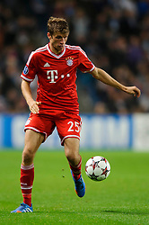Bayern Midfielder Thomas Muller (GER) in action during the second half of the match - Photo mandatory by-line: Rogan Thomson/JMP - Tel: Mobile: 07966 386802 - 02/10/2013 - SPORT - FOOTBALL - Etihad Stadium, Manchester - Manchester City v Bayern Munich - UEFA Champions League Group D.
