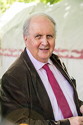Pictured: Alexander McCall Smith<br /> Book fanatics headed to Charlotte Square in Edinburgh which is the hub of the international Book Festival to meet the authors and also to meet up with fellow fans of the printed word.<br /> <br /> <br /> Ger Harley   EEm 15 August 2017