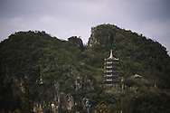 Pagoda in top of marble mountains in Danang, Vietnam, Asia
