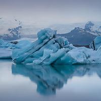 Jökulsárlón, Iceland's deepest glacial lake, rapidly grows in size, as Breiðamerkurjökull glacier continues to melt and retreat.