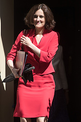 Downing Street, London, July 5th 2016. Northern Ireland Secretary Theresa Villiers leaves 10 Downing Street following the weekly cabinet meeting.