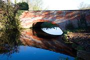 Red bridge over River Deben, Ufford, Suffolk, England
