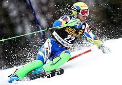 VALENCIC Mitja of Slovenia during the 1st Run of Men's Slalom - Pokal Vitranc 2013 of FIS Alpine Ski World Cup 2012/2013, on March 10, 2013 in Vitranc, Kranjska Gora, Slovenia.  (Photo By Vid Ponikvar / Sportida.com)