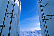 Fuel storage tanks in the Western Arctic.