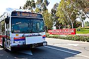 91 OCTA Bus At Saddleback College In Mission Viejo
