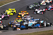 April 5-7, 2019: IndyCar Grand Prix of Alabama, Takuma Sato, Rahal Letterman Lanigan Racing, Honda leads the start of the Honda IndyCar Grand Prix