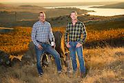Rob Mercer  &  John Derrick at Mercer's Spice Cabinet Vineyard, Horse Heaven Hills, Washington