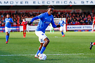 Portsmouth forward Jamal Lowe (10)  during the EFL Sky Bet League 1 match between Accrington Stanley and Portsmouth at the Fraser Eagle Stadium, Accrington, England on 27 October 2018.