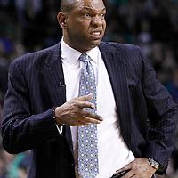 04 March 2012: Boston Celtics head coach Doc Rivers is seen during the Boston Celtics 115-111 (OT) victory over the New York Knicks at the TD Garden, Boston, Massachusetts, USA.