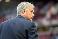 Jose Mourinho, the Chelsea manager looks on before k/o.  Barclays Premier League, West Ham Utd v Chelsea at The Boleyn Ground, Upton Park in London on Saturday 24th October 2015.<br /> pic by John Patrick Fletcher, Andrew Orchard sports photography.