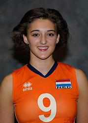 24-12-2019 NED: Photoshoot selection of Orange Youth Girls, Arnhem<br /> Orange Youth Girls 2019 - 2020 / Dagmar Mourits #9