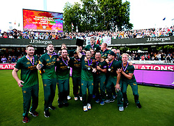 Nottinghamshire celebrate winning The Royal London One-Day Cup after beating Surrey in the Final - Mandatory by-line: Robbie Stephenson/JMP - 01/07/2017 - CRICKET - Lord's Cricket Ground - London, United Kingdom - Nottinghamshire v Surrey - Royal London One-Day Cup Final 2017