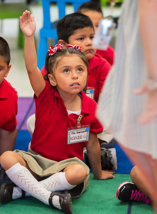 Students during the first day of school at Shearn Elementary School, August 25, 2014.