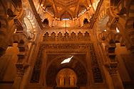Cordoba. La Mezquita de Cordoba, actual Catedral. Interior