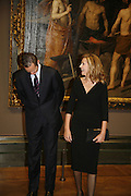 .R.H. The Infanta Dona Cristina de Borbon and Her husband Mr Inaki Urdangarin, Duchess and Duke of Palma, Velasquez private view, Sainsbury Wing, National Gallery,16 October 2006. DO NOT ARCHIVE-© Copyright Photograph by Dafydd Jones 66 Stockwell Park Rd. London SW9 0DA Tel 020 7733 0108 www.dafjones.com