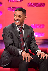 Will Smith appearing on the Graham Norton Show filmed at the London Studios. London, which will be transmitted on BBC One on December 23.