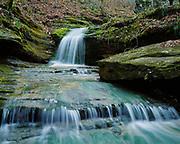 Waterfalls on Indian Creek, Ponca Wilderness, Buffalo National River, Arkansas.