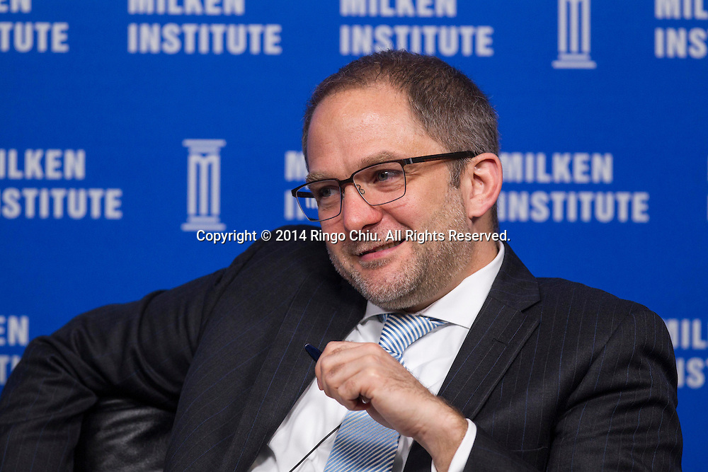 Mehmet Saydam, Head of Investment, Natural Resources, Reuben Brothers, in a panel during the Milken Institute Global Conference on Monday, April 28, 2014 in Beverly Hills, California. (Photo by Ringo Chiu/PHOTOFORMULA.com)